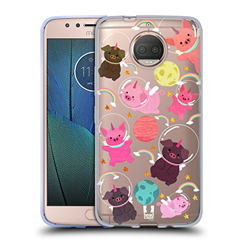 - Head Case Designs Pig Space Unicorns Soft Gel Case for Motorola Moto G5S Plus