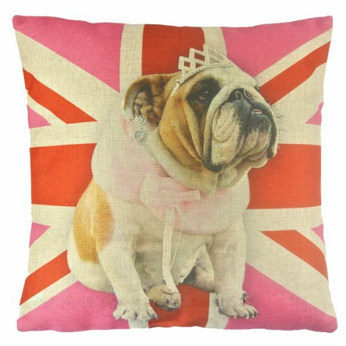 union jack bulldog pillow - 5