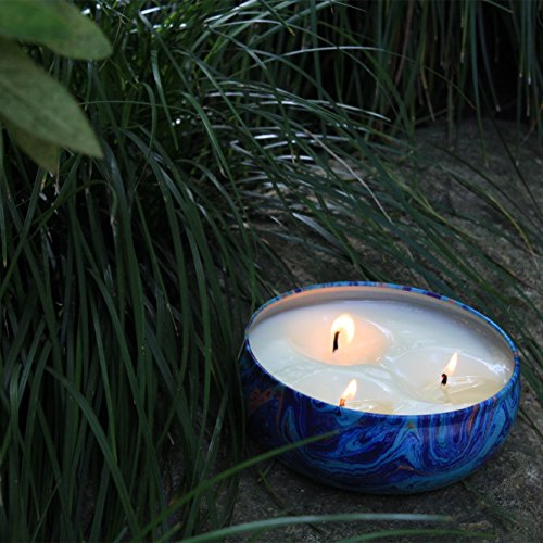 LA JOLIE MUSE Citronella Candles Set 3, 12 oz Each Scented Candle Natural Soy Wax, Outdoor and Indoor by LA JOLIE MUSE (Image #3)