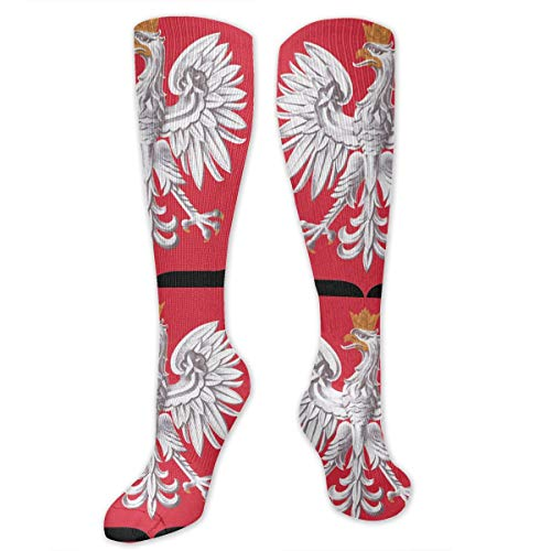 - Coat of Arms of Poland Compression Socks for Men & Women High Socks Below Knee High