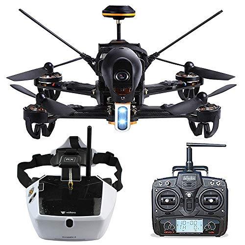 Walkera F210 Professional Deluxe Racer Quadcopter Drone w/ 5.8G Goggle4 FPV Glasses /Devo 7 Transmitter /700TVL Night Vision Camera / OSD / Ready to Fly Set RTF Mode 2 (Type 1)