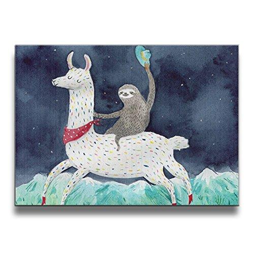 Shannon Brownrices Lona Decorativo para Pared, Diseño de Lona de Color Acuarela de 1620 Pulgadas, para el hogar, Sala de Estar, Recámara, Oficina, Decoración Moderna, Blanco