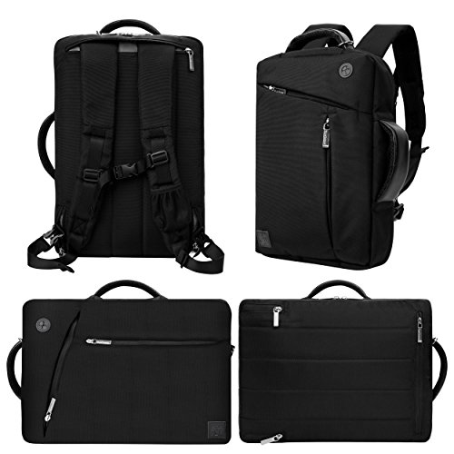 Convertible [Black] Messenger Shoulder Bag to Bag Pack to Carrying Case for Lenovo ThinkPad X 280, X 380, X1 Carbon 5th & 6th Gen, X1 Yoga 1st & 2nd Gen, 260, L 380, 11E Chromebook, 730 ()