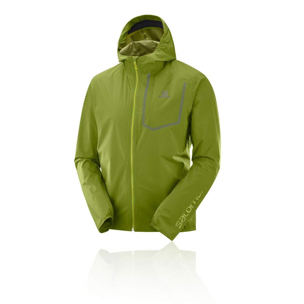 Salomon Men's Bonatti Pro WP Jacket, Avocado/Avocado, Small