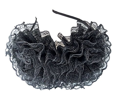 Flower Fascinator Clip Headband Camellia Wedding Cocktail Headwear Brooch Corsage (Sequin Flower Black) price tips cheap
