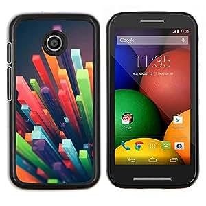 YiPhone /// Prima de resorte delgada de la cubierta del caso de Shell Armor - polígono paja plástica abstracta 3d - Motorola Moto E