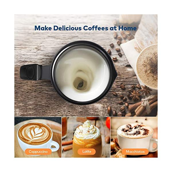 Espumador de leche de Miroco | Letras y Latte - Libros en español y café