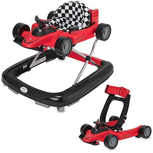 ib style® LITTLE RACER 2 in 1 Loopstoel | Loopwagentje | met afneembare racewagen | met lichtjes en melodieën| Rood