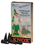 KNOX Myrrh Scented Incense Cones, Pack of 24, Made in Germany