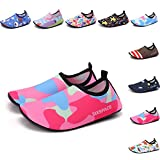 Sixspace Kids Water Shoes Swim Shoes Quick-Dry Barefoot Sock Shoes for Beack Swim Pool Yoga,Pink 32/33