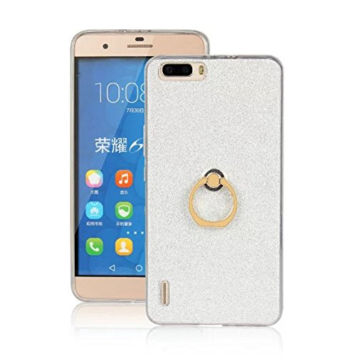 Silicone + TPU Case for Huawei Honor 6 Plus (Silver) - 5