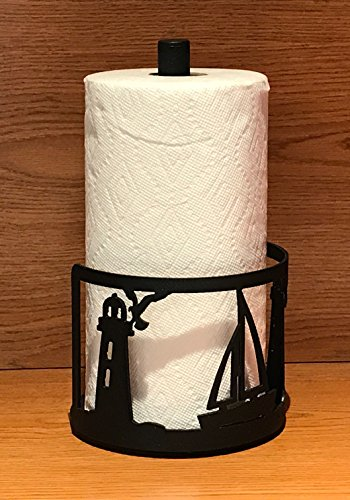 Made in USA Sailboat Themed Steel Paper Towel Rack (Sailboat Rack)