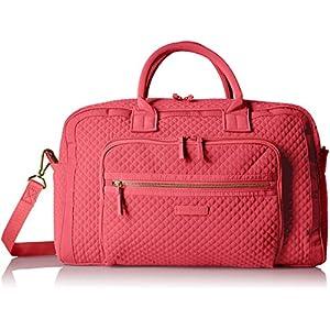 Vera Bradley Iconic Compact Weekender Travel Bag Vera, Coral Reef