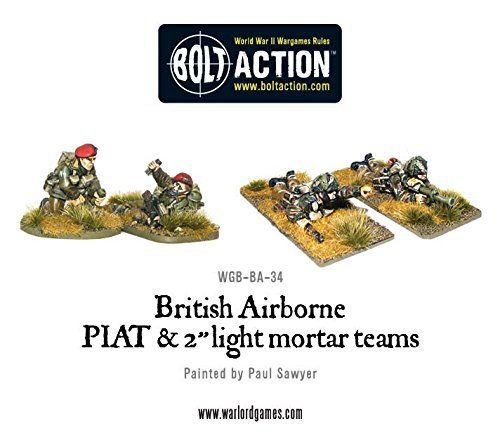 Bolt Action British Airborne Piat And Light Mortar Teams Blister Metal Warlord Games