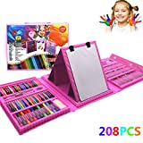 Children'S Drawing Painting Sketching Tools Set Water Color Pen Crayon Oil Pastel Paint Brush Pens Art School Stationery Inspiration Gifts Elementary Crayons Markers Brushes For Kids And Adults (208pcs)