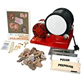 Single Barrel Rock Polishing Tumbler and Geology Kit with Grit and Accessory Kit