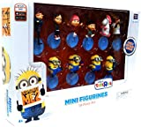 Despicable Me 2 PVC 2 Inch Mini Figure 10-Piece Set [Gru, Dr.Nefario, Margo, Edith, Agnes, Unicorn, Tim, Dave, Tom &Stuart] by MISSING