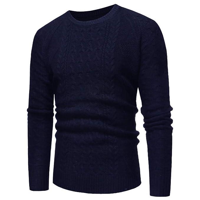 Yvelands Abrigos y Chaquetas de Abrigo para Hombres, Sweatshirts Active para Hombres Jersey de Punto con Cuello Ocasional Top: Amazon.es: Ropa y accesorios