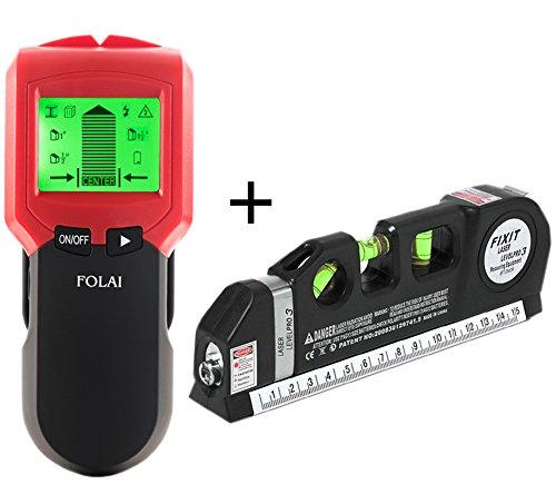 Stud Finder Multi-Scanner Stud Finders Center-Finding Stud Metal AC Wire WoodScanner Wall Stud Finder with Multipurpose Level