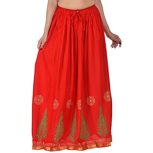 Decot Paradise Women's A Line Skirt  SKT3061_Red_Free Size