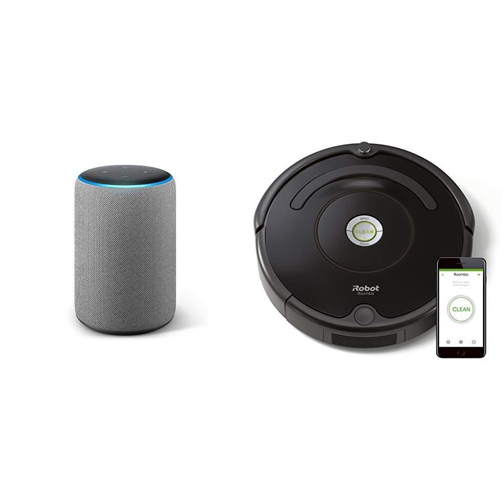 Echo Plus gris oscuro + iRobot Roomba 671 - Robot aspirador suelos ...