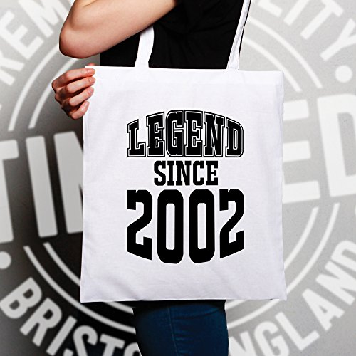 Shopping Legend 16th 2002 Bag Birthday Since Natural Tote 17qcqgW4