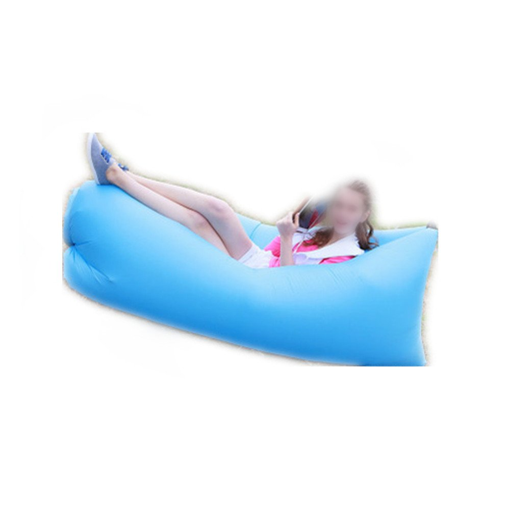 Mad sorrow Tragbares aufblasbares Sofa der aufblasbaren Blätter des im Freien aufblasbaren Bettes faules Strandsofa der Leute blaues Freizeit schnelles aufblasbares