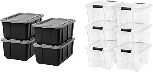 Red Quantum SNT190RD 19-1//2-Inch by 15-1//2-Inch by 10-Inch Stack and Nest Tote 6-Pack