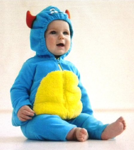 Carter's Halloween Costume Blue Monster 2 Pcs Hooded Top & Pants New (18 Months)]()