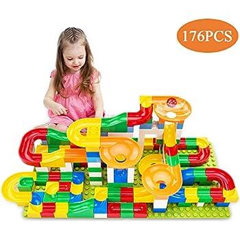 Amazon Com Temi 176 Pcs Marble Run Super Sets For Kids