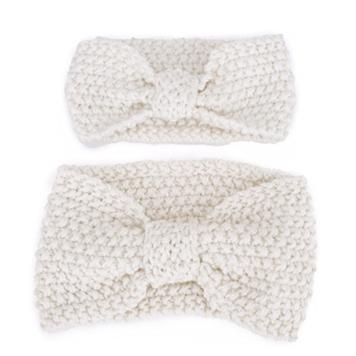Mother and Baby Girls Toddler Knit Headband Crochet Winter Elastic Hair Band Headwrap