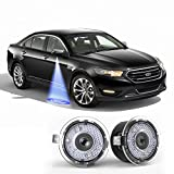 ford edge logo - IRONSKY For Ford LED Side Mirror Puddle Lights Under mirror light logo laser Ghost Shadow Welcome light Logo Projector car lamp For EDGE Explorer Mondeo Taurus FLEX Expedition F-150 etc (Ford series)