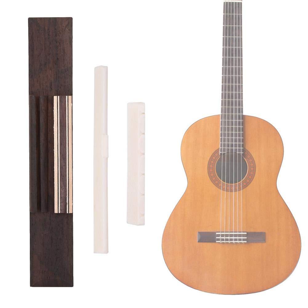 Drfeify Kit de Guitarra Clásica Puente Faux Ganado Hueso Guitarras ...