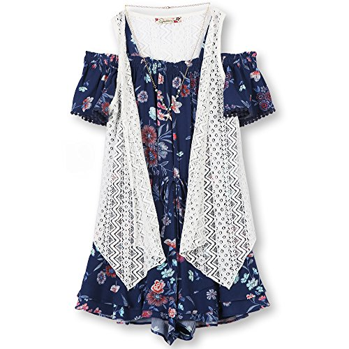 Speechless Girls' Big 2 Piece Cold Shoulder with