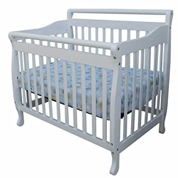 Superbe 3 In 1 Portable Convertible Crib In White