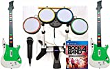 Rock Band 4 Band Bundle Set PS4 Game w/2 WIRELESS GUITARS Drum Kit in-a-box