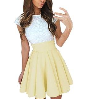 f9d9c5140 Yuson Girl Mujer Elegante Vestidos Dobladillo Irregular de Shoulder ...