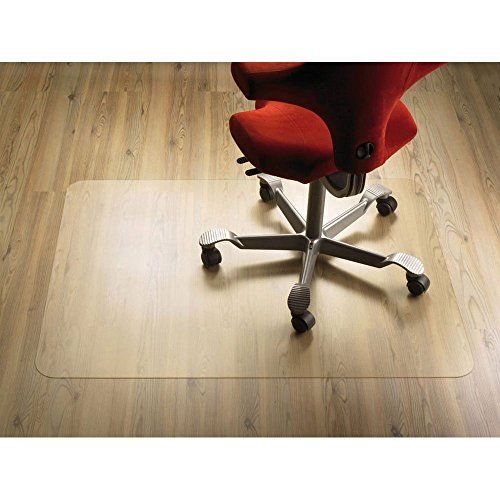 e-joy LivingComfort Office Chair Mat for Hardwood Floor, Great Clear Vinyl Hard Floor Mat With Smooth Surface, Anti-Slip Thick And Sturdy Desk Floor Protective Mats 48''×36'' 4 Pack by e-joy