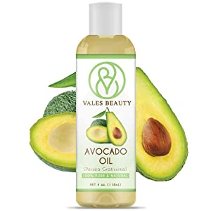 Avocado Oil Cold Pressed 100% Natural Therapeutic Grade Carrier 4 oz Ideal For Aromatherapy, Body Massage, Moisturizing Hair & Dry Skin, Drandruff and Itchy Scalp