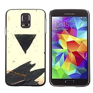 A-type Arte & diseño plástico duro Fundas Cover Cubre Hard Case Cover para Samsung Galaxy S5 (Negro Triángulo)