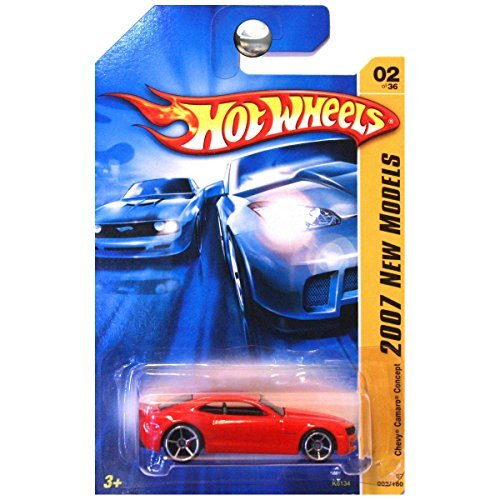 Hot Wheels - 2007 New Models - Chevy Camaro Concept - Bright Red - 02/36 - Limited Edition - Collectible 1:64 Scale