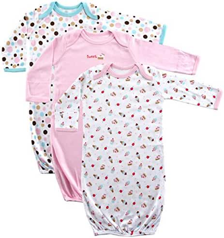 Luvable Friends Unisex 3 Pack Cotton Gown
