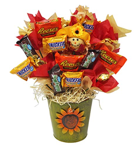 Candy Bouquet Well Soon - Fall Themed Candy Bouquet | Fun Sized Candy Harvest Bouquet | Candy Assortment Gift