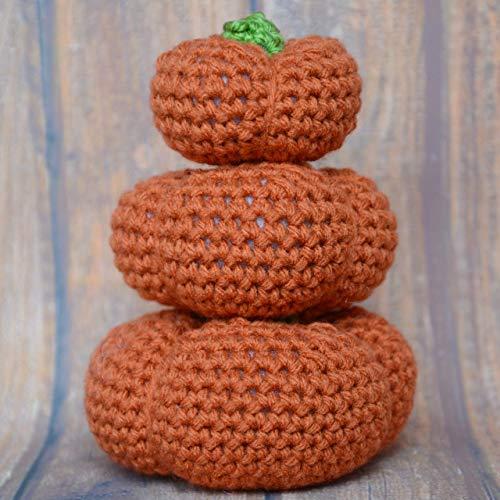 Crochet Pumpkins Plush Toy or Fall Home Decor