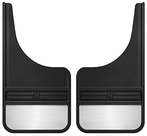 Husky Liners Rubber Front Mud Flaps - 12IN w/ Weight