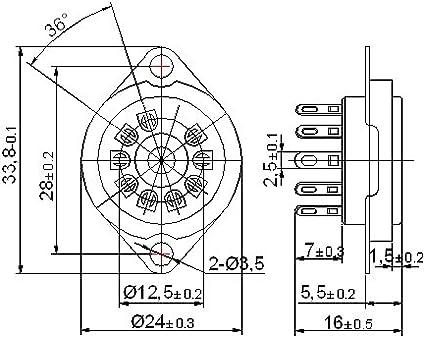 Cary 4pcs 9 PIN Vaccum Tube Socket Saver Mount Fr 12ax7 12au7 Ecc82 Ecc83 Radio Parts