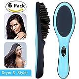 Hair Dryer Straightener Styler Brush, FERNIDA One-Step Hair Straightening Ionic Hot Air Styling Tool