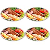 Luxlady Natural Rubber Round Coasters IMAGE ID: 25188406 Composition with assorted organic grocery products