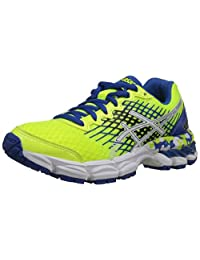 ASICS GEL Nimbus 17 GS Running Shoe (Little Kid/Big Kid),Flash Yellow/White/Blue,3.5 M US Big Kid