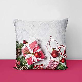 51gEgJuH7oL. SS320 Christmas Designs Printed Square Cushion Cover